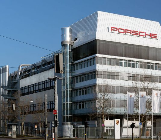 Porsche headquarters in Stuttgart, Germany. Photo by: Morio