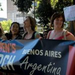 Women's march in Buenos Aires, Argentina. Photo by: The Bubble.