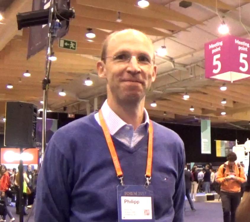 Phillip von Haggen at Lisbon's Web Summit. Photo by: Miguel Salvado.