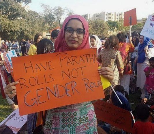 Pakistan women's rights, Aurat rally. Photo by: Sai Seshadri.