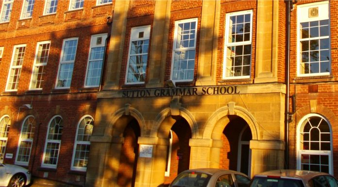 Sutton Grammar School in Surrey, Greater London. Photo by: A P Monblat.