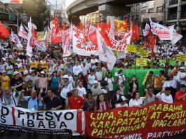 Labor day in Manila, Philippines.