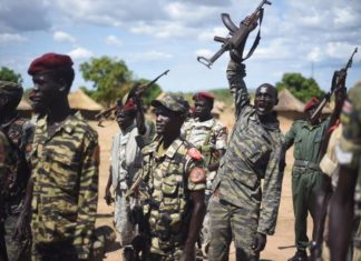 Sudan People's Liberation Army near South Sudan capital, Juba. Photo by: Jason Patinkin.