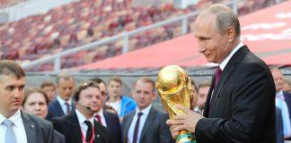 Vladimir Putin gave the start to the FIFA World Cup Trophy Tour at the Luzhniki Stadium. Photo by: Kremlin.ru.