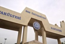 Ege Public university in Bornova, Turkey.