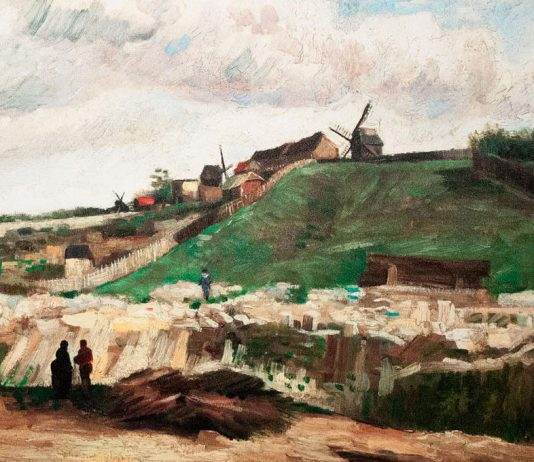 Vincent van Gogh: The Hill of Montmartre with Stone Quarry. Painted in Paris, 1886. Photo by: Szilas.