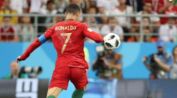 2018 World Cup match between Portugal and Iran. Cristiano Ronaldo. Photo by: Mahdi Zare/Fars News Agency.