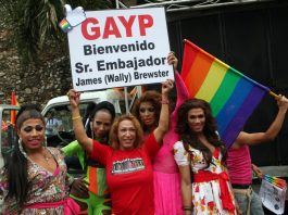 LGBT community in the Dominican Republic supports USA ambassador James Wally Brewster.