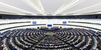European Parliament in Strasbourg, Belgium. Photo by: David Iliff.