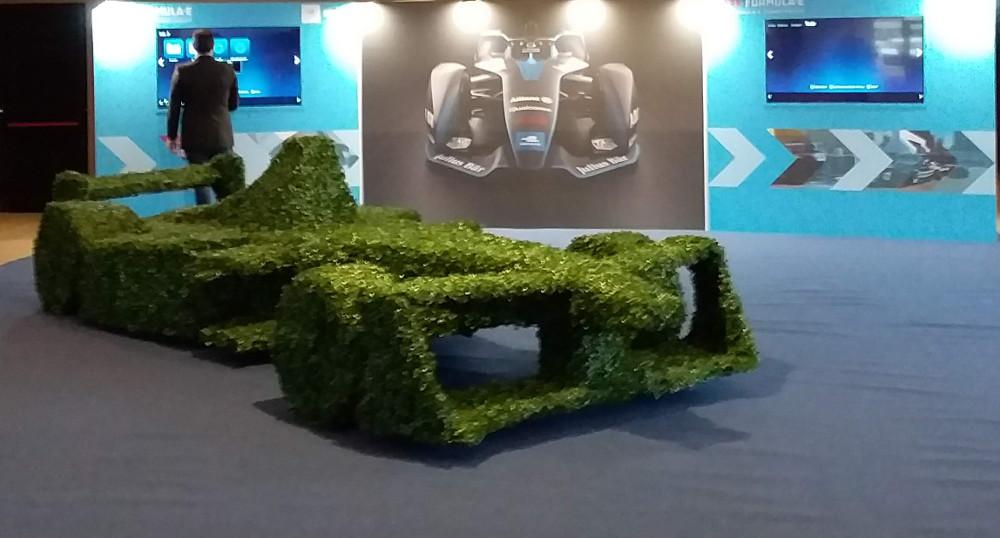 Formula E stand at the Smart Cities Forum. Uruguay FIA Conference. Photo by: Cecilia Demartini.