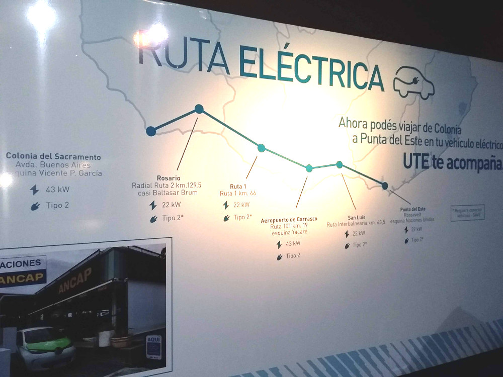 Uruguay launched the first electrified route in Latin America. Exhibition at the the FIA Mobility Conference in Uruguay. Photo by: Cecilia Demartini.
