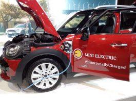 MINI Electric at the the FIA Mobility Conference in Uruguay. Photo by: Cecilia Demartini.