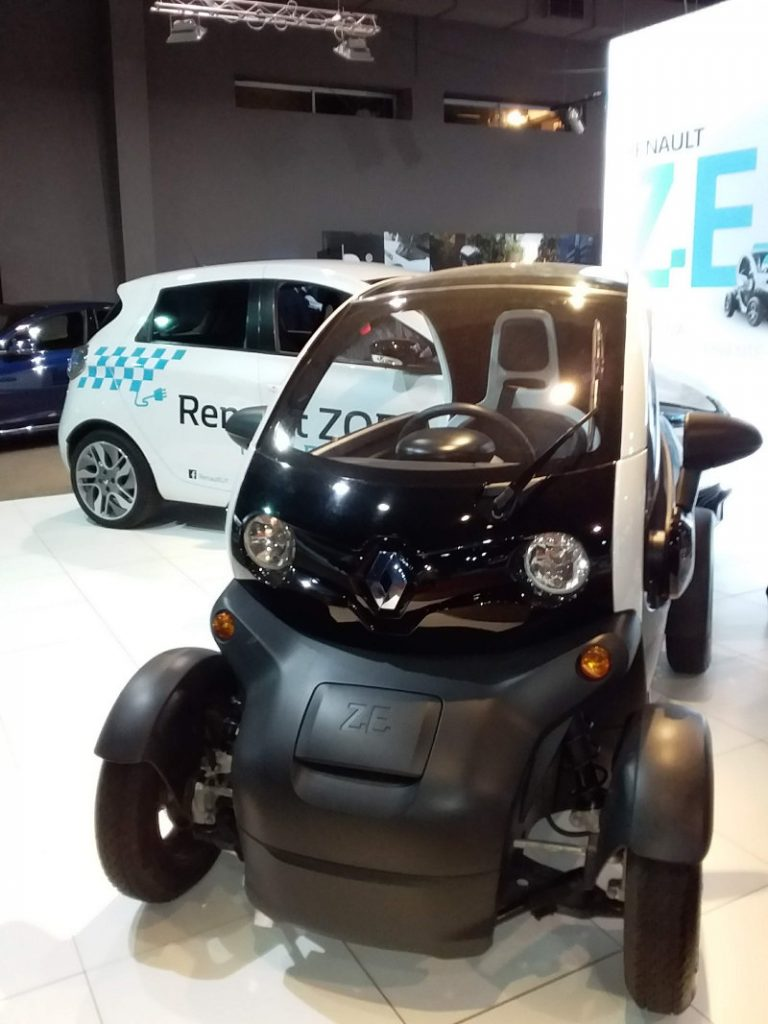 Renault ZOE and Twizy at the the FIA Mobility Conference in Uruguay. Photo by: Cecilia Demartini.