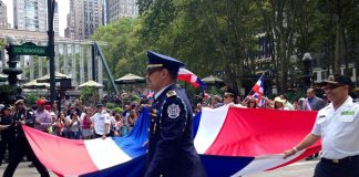 Dominicans at the Dominican parade in New York City. Photo by: New Women New Yorkers.