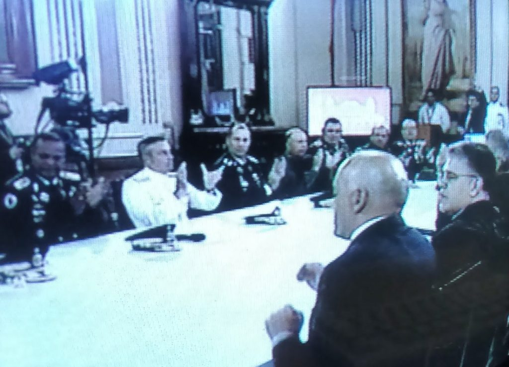 Venezuela's executive cabinet, TV-broadcast after the drone attack in Caracas.