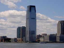 Goldman Sachs Tower in Jersey city. Photo by: Oriez.