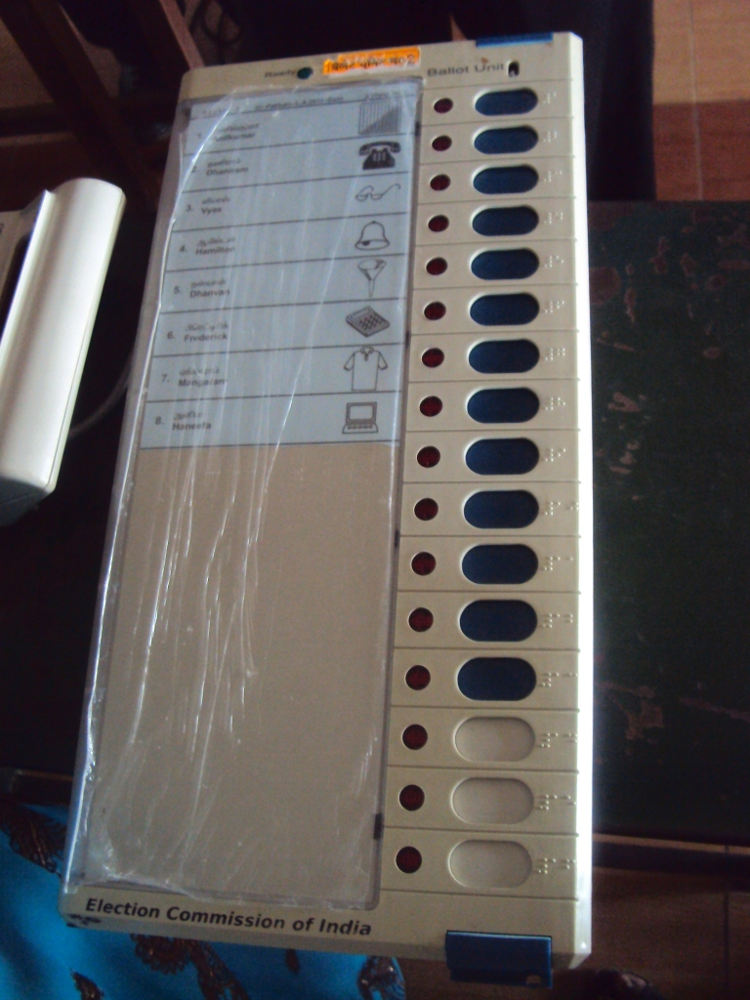 Indian Electronic Voting Machine (2011). Photo by: பரிதிமதி.