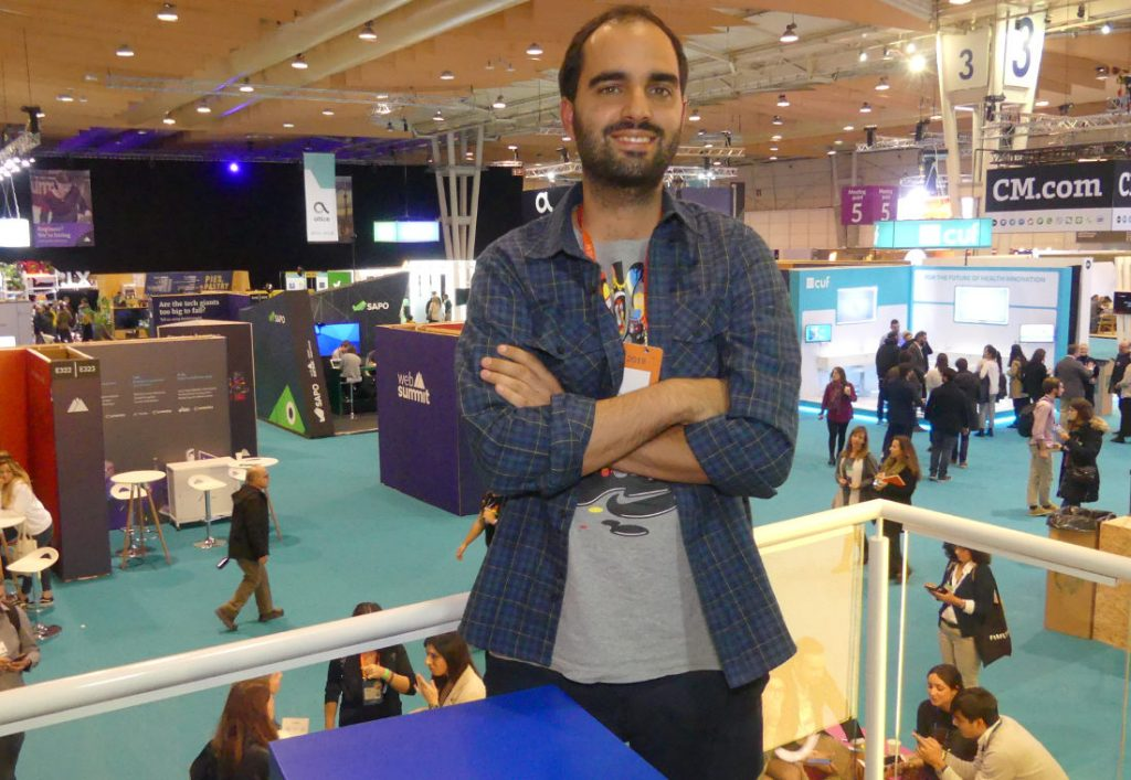 André Costa at Web Summit. Interview about the Portuguese startup ecosystem. Photo by: Via News Agency.
