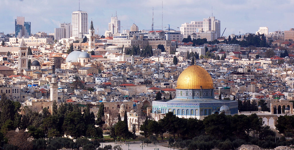 """Jerusalem, seen from the Mount of Olives. """"Rather than the inclusive city Jerusalem has the potential to be, it is inhabited by a set of micro-communities, who keep to their people""""- the Holy City, the Divided City. Photo by: Dan."""