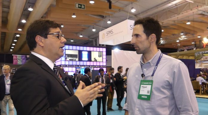 Eurico Brilhante Dias interview about investing in Portugal at the Web Summit. Photo by: ViaNews.