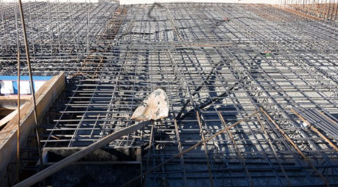 Construction site in Indonesia.