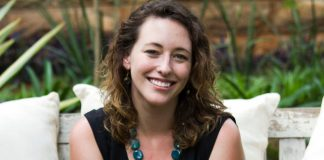 Claire Mongeau is the founder and CEO of the EdTech startup M-Shule. Photo by: M-Shule Communications team.