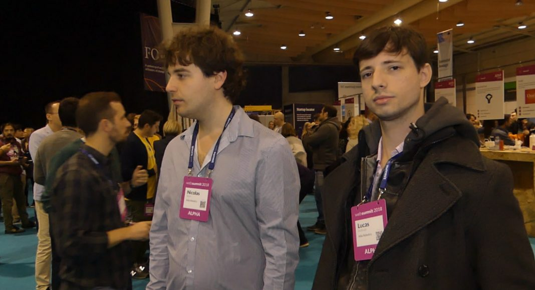 From left to right: Nicolas Klein (networking) and Lucas Roitman (Designer & Visionary) at Adia Robotics. Photo by: Via News Agency.