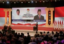 indonesia's second presidential debate, 2019.