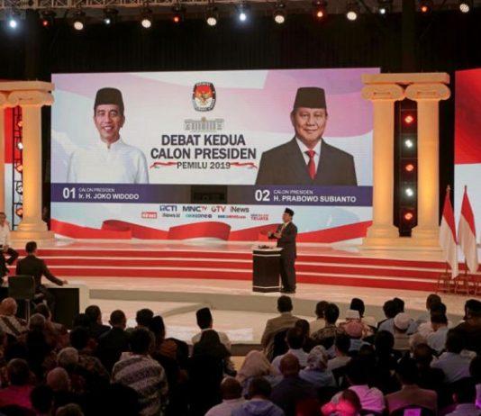 indonesia's second presidential debate, 2019.