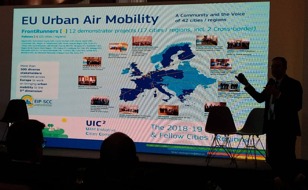 EU Urban Air Mobility talk at FIA Smart Cities Forum in Rome. Photo by Cecilia Demartini.
