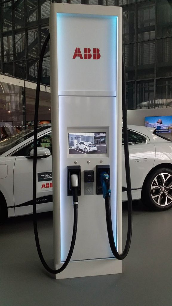 ABB charging station at FIA Smart Cities Forum in Rome. Photo by Cecilia Demartini.