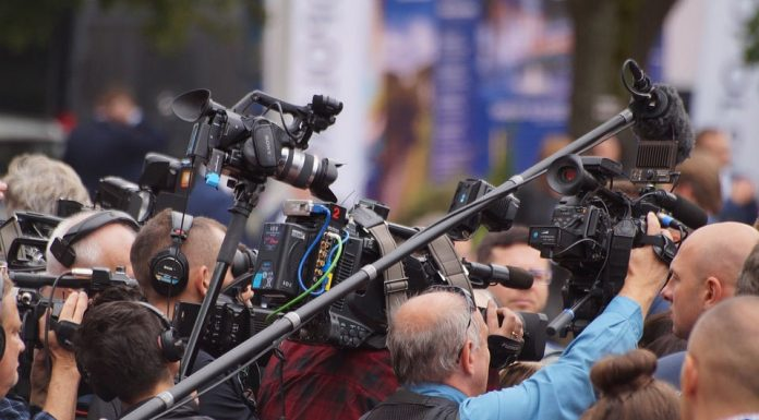 Journalists covering an event