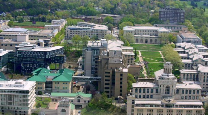 Almost all of Carnegie Mellon University as seen from the Cathedral of Learning, in Pittsburgh. At Carnegie Mellon's School of Computer Science, a more intimate and personal connection is held to the study of Artificial Intelligence due to the legacy of researchers and professors Herbert Simon and Allen Newell. Photo by: Zox Cleb.