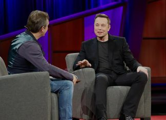 Elon Musk at TED 2017. Photo by: Steve Jurvetson.