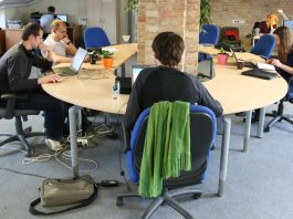 Coworking at Hub Vilnius in Lithuania. Photo by: Mindaugas Danys.