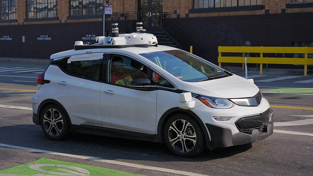 A Cruise Automation Chevrolet Bolt, third generation, seen in San Francisco. Photo by: Dilu,