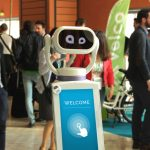 The Heasy robot has been designed as a smart home terminal, able to educate customers and move alone in space. Photo by: LSA.