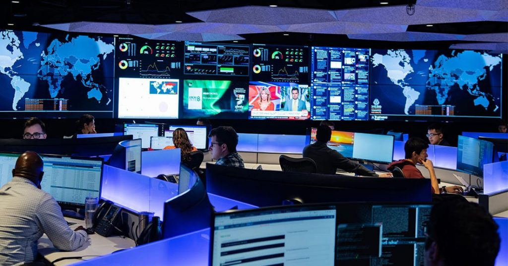 Chicago cybersecurity command center. Image by: Tom Harris.