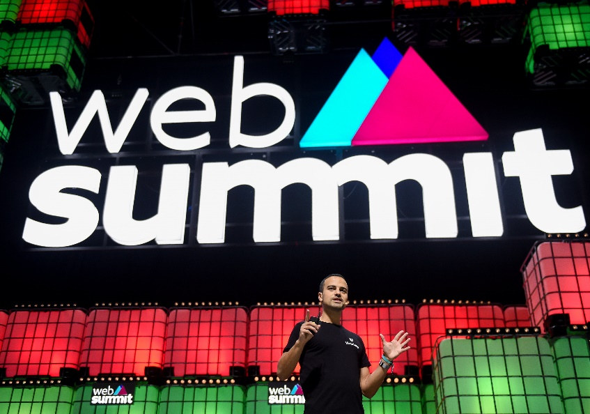 Amir Bozorgzadeh, co-founder and CEO of Virtuleap, presenting at Web Summit 2019 (Photo credit: Supplied by Virtuleap.)