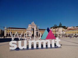 Web Summit's promotional item in Praça do Comércio, Lisbon, Portugal. Photo credit: Rick Morais