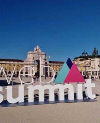 Web Summit's promotional item in Praça do Comércio, Lisbon, Portugal. Photo credit: Rick Morais.