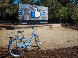 Facebook headquarters in 1 Hacker Way, Menlo Park, United States. Photo credit: Jimmy Baikovicius.