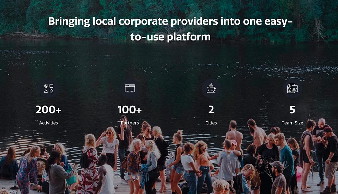 Teamy connects companies that invest in team-building activities with local corporate providers. (Photo taken from Teamy's website)