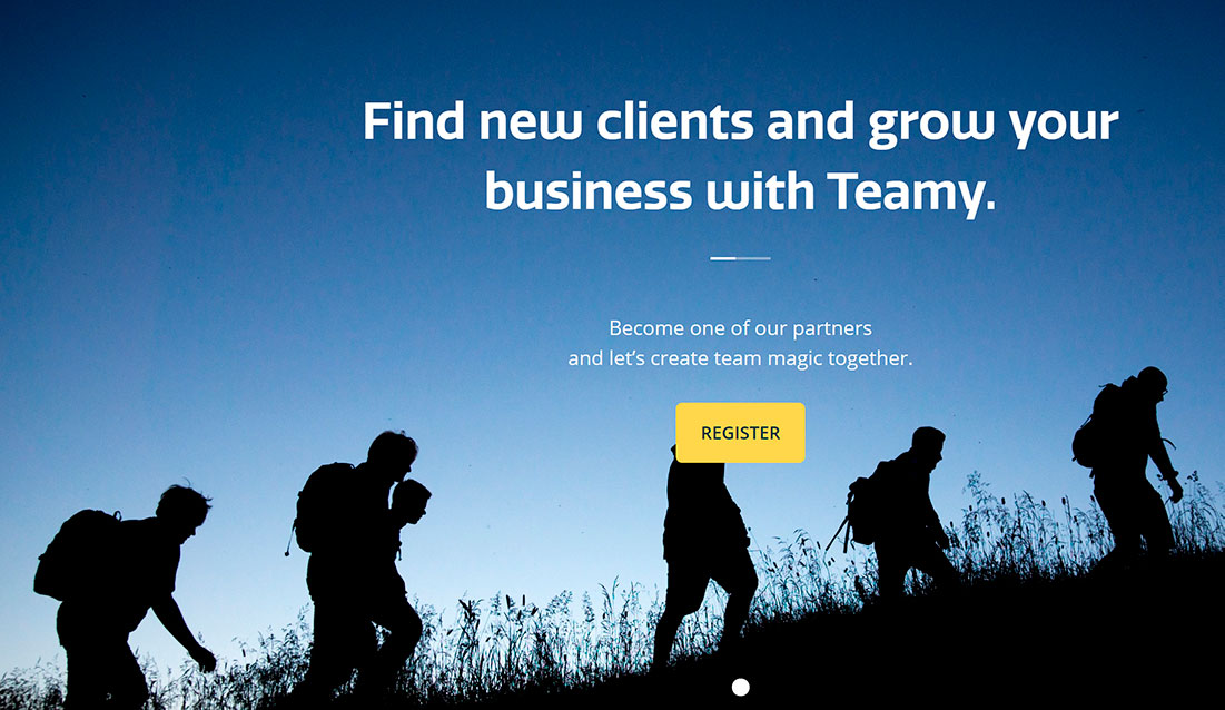 Teamy is looking for partners to broaden the scope of the activities available on its platform. (Photo taken from Teamy's website)