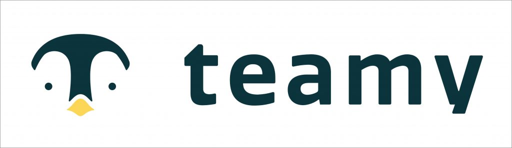 Teamy's logo is inspired by penguins who live in groups. (Photo credit: Teamy)