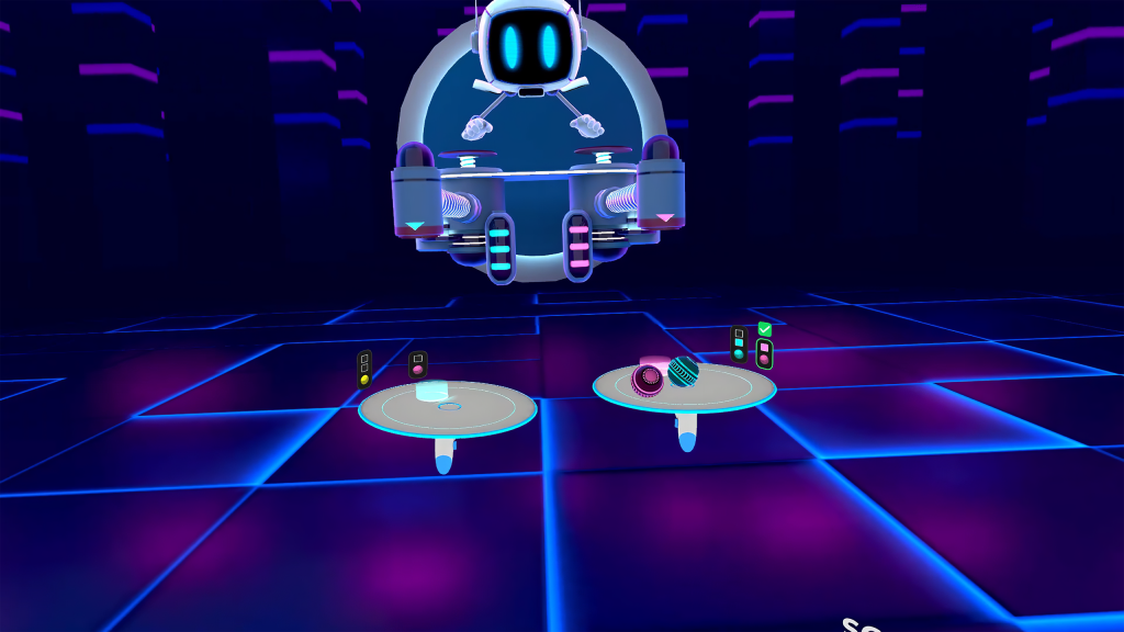 Balance, one of the new games released by Virtuleap, aims to train the user's motor control skills and divided attention. (Photo credit: Virtuleap)