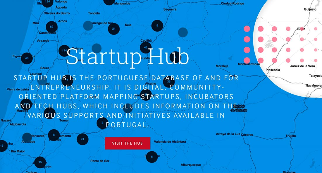 Startup Hub is the Portuguese database of and for entrepreneurship. (Photo credit Startup Portugal)