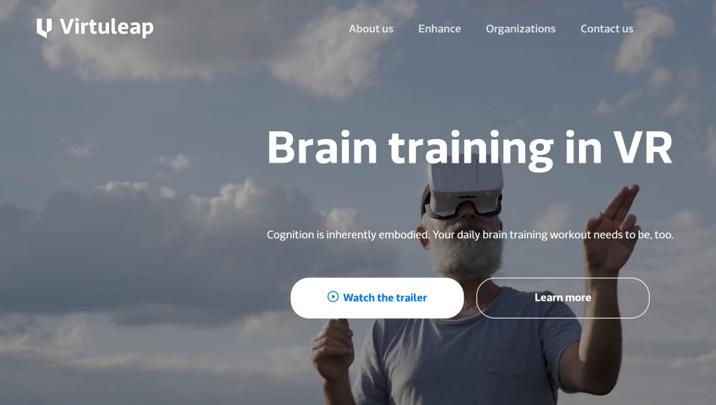 Virtuleap is a health and education VR startup that is taking cognitive assessment and training to the next level thanks to VR and AI. (Photo credit: Virtuleap)