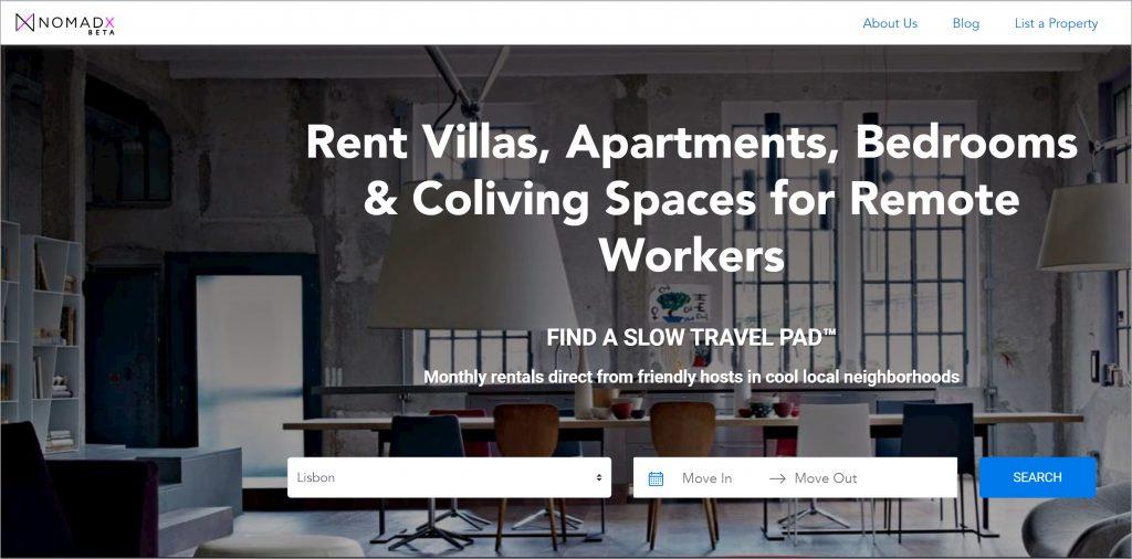 NomadX is a platform where digital nomads can find quality affordable housing. (Photo credit: NomadX)