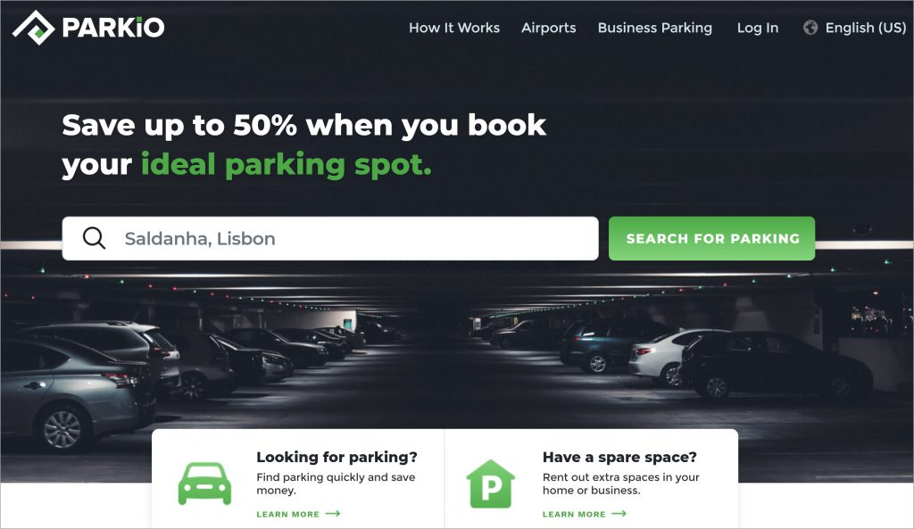 eParkio is a European marketplace that links drivers with parking spaces. (Photo credit: eParkio)